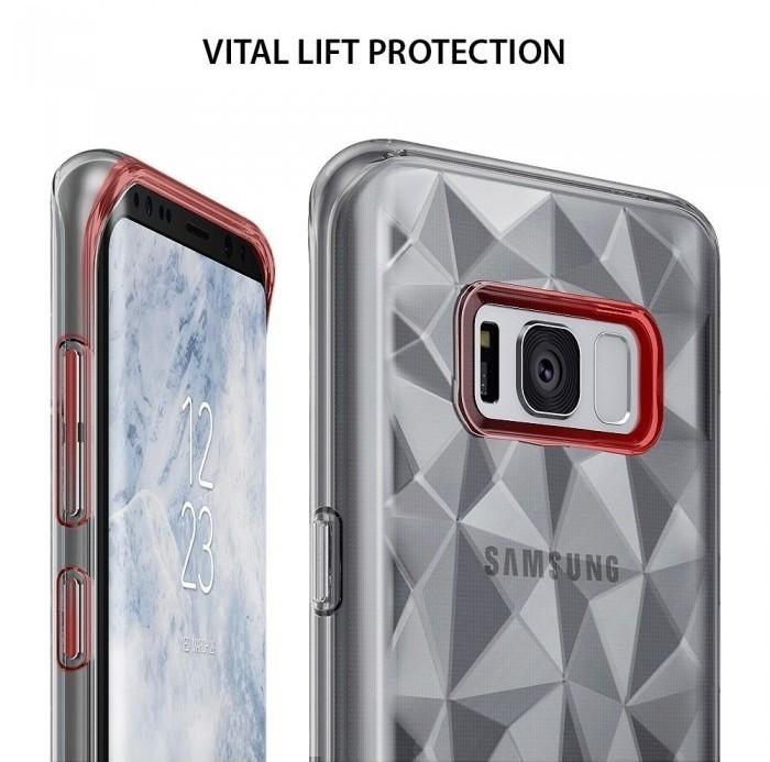 Husa Ringke Prism Clear pentru Samsung Galaxy S8 4