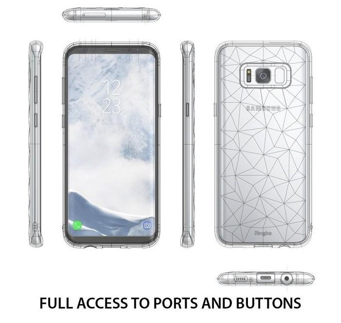 Husa Ringke Prism Smoke Black pentru Samsung Galaxy S8 4