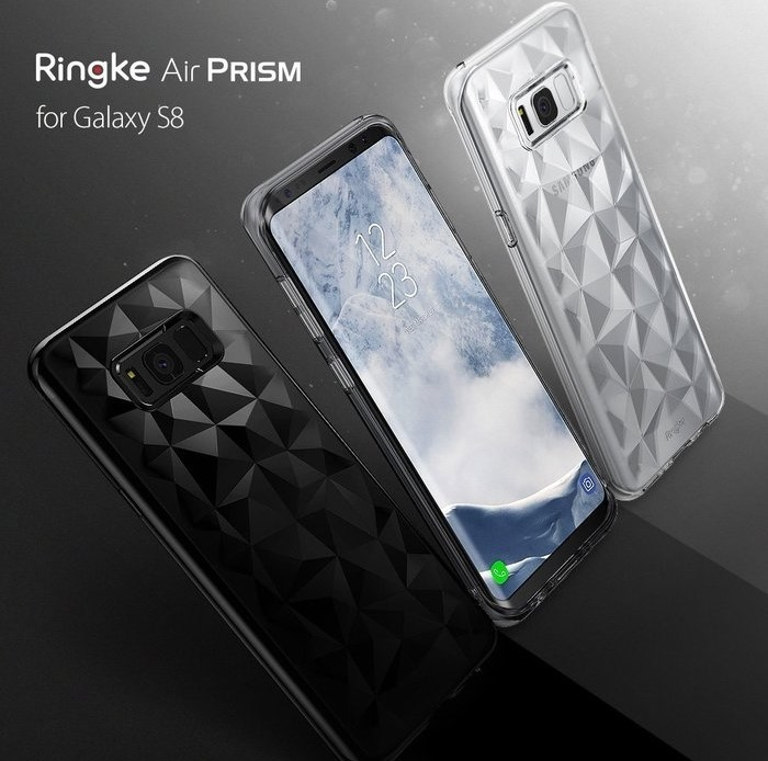 Husa Ringke Prism Smoke Black pentru Samsung Galaxy S8 3