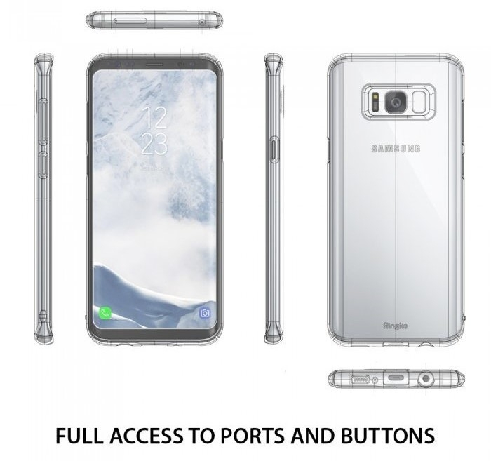Husa Ringke Slim Black pentru Samsung Galaxy S8 4