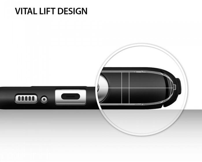 Husa Ringke Slim Black pentru Samsung Galaxy S8 6
