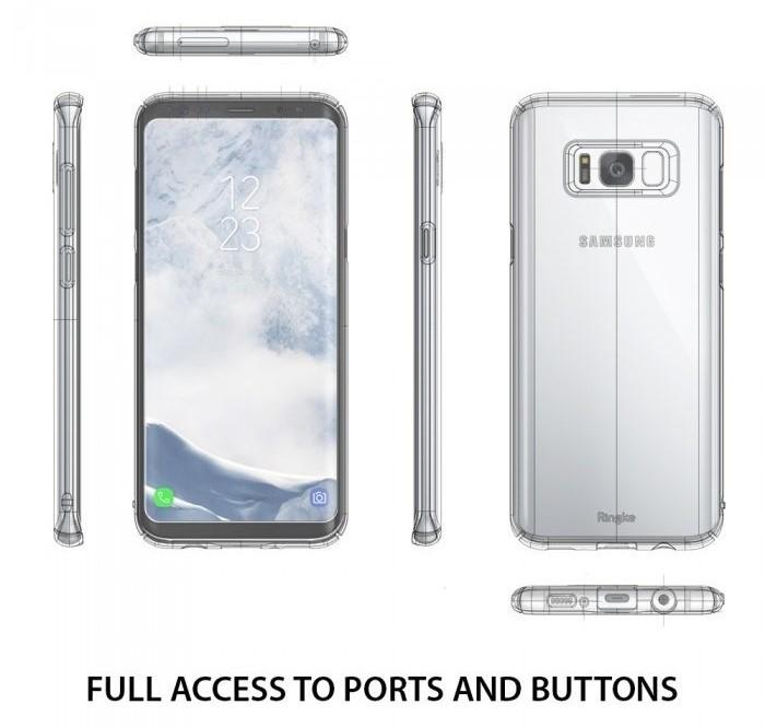 Husa Ringke Slim Blue Pearl pentru Samsung Galaxy S8 4