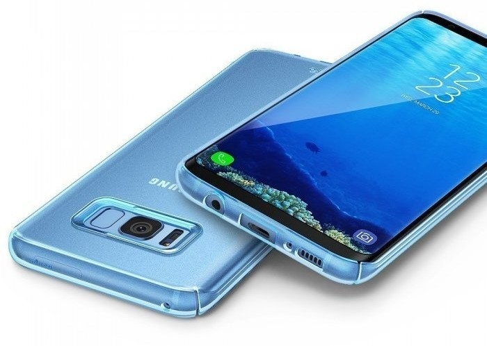 Husa Ringke Slim Frost Blue pentru Samsung Galaxy S8 4