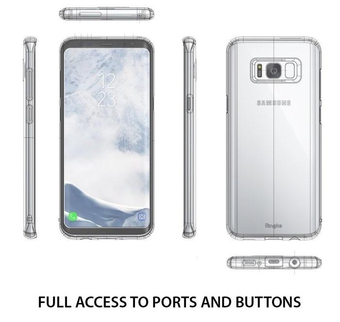 Husa Samsung Galaxy S8 Ringke Slim Frost Gray 5