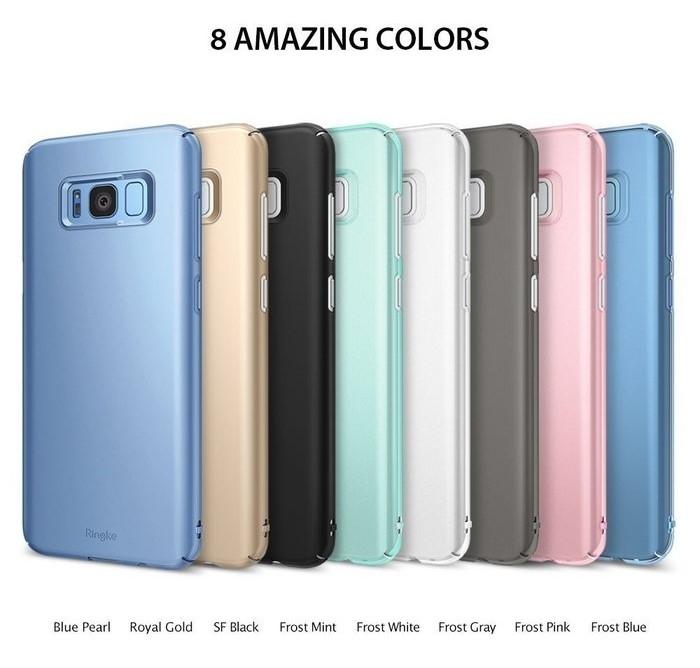 Husa Ringke Slim Frost Pink pentru Samsung Galaxy S8 5
