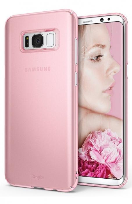 Husa Ringke Slim Frost Pink pentru Samsung Galaxy S8 0