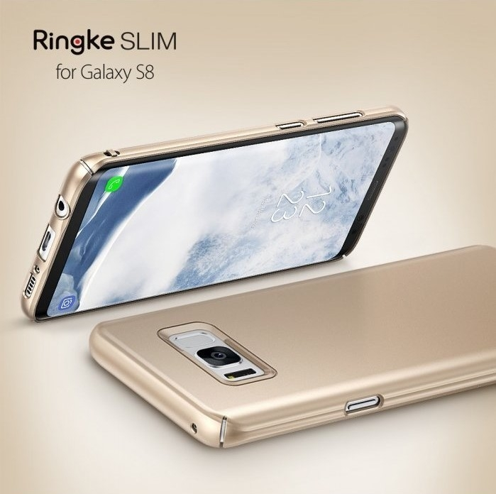 Husa Ringke Slim Royal Gold pentru Samsung Galaxy S8 2