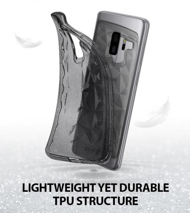 Husa Ringke Air Prism Grey Glitter pentru Samsung Galaxy S9 Plus 4