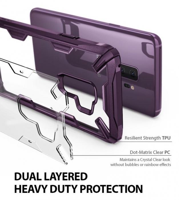 Husa Ringke FUSION X Mov Transparent pentru Samsung Galaxy S9 Plus 3