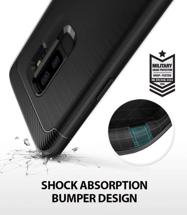 Husa Ringke Onyx Black pentru Samsung Galaxy S9 Plus 3