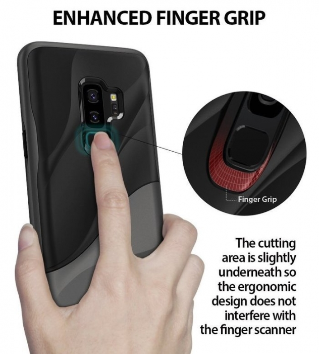 Husa Ringke Wave Black pentru Samsung Galaxy S9 Plus 0