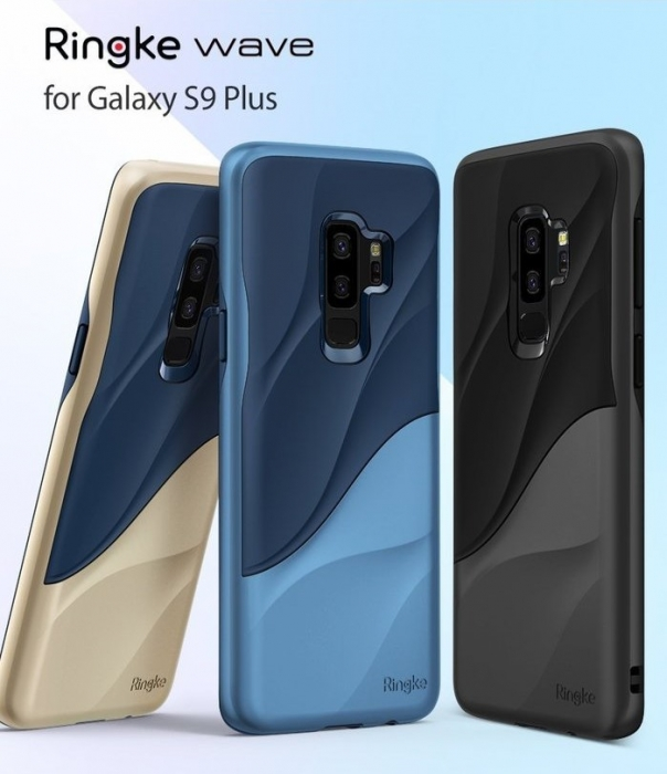 Husa Ringke Wave Blue Navy pentru Samsung Galaxy S9 Plus 7