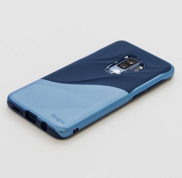 Husa Ringke Wave Blue Navy pentru Samsung Galaxy S9 Plus 6