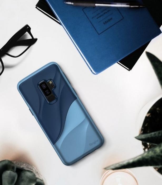 Husa Ringke Wave Blue Navy pentru Samsung Galaxy S9 Plus 4