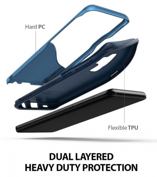Husa Ringke Wave Blue Navy pentru Samsung Galaxy S9 Plus 0