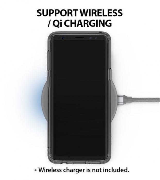 Husa Ringke Fusion Transparent-Fumuriu pentru Samsung Galaxy S9 5