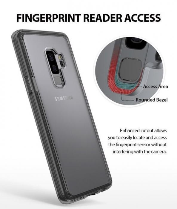Husa Ringke Fusion Transparent-Fumuriu pentru Samsung Galaxy S9 3