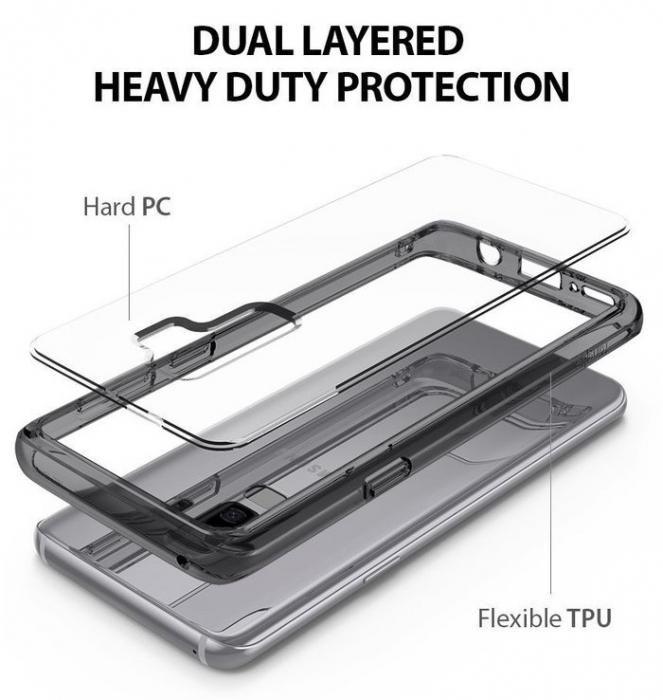 Husa Ringke Fusion Transparent-Fumuriu pentru Samsung Galaxy S9 2