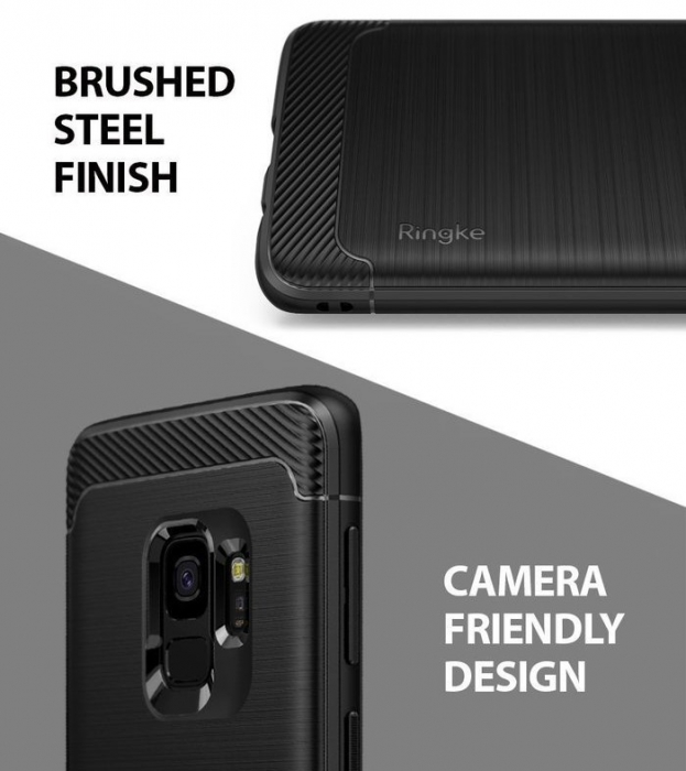 Husa Ringke Onyx Black pentru Samsung Galaxy S9 4