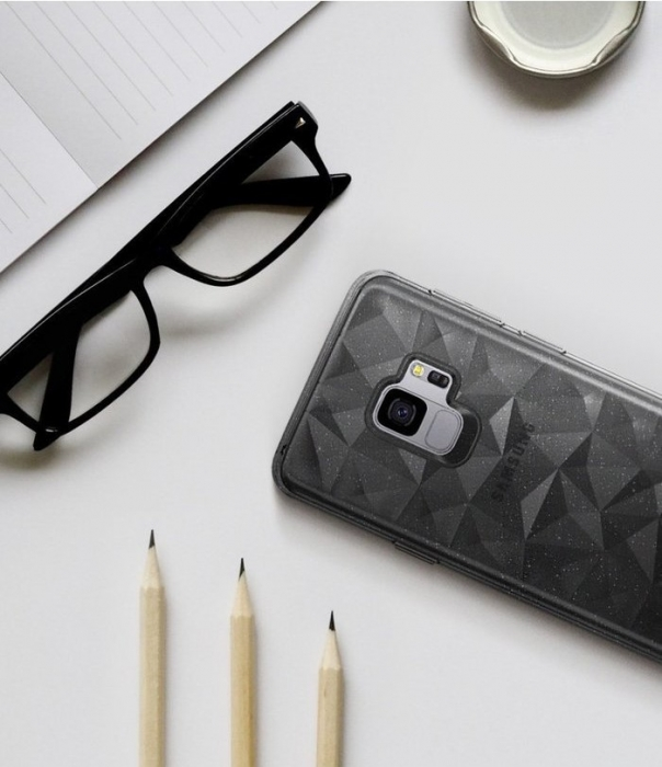 Husa Ringke Air Prism Grey Glitter pentru Samsung Galaxy S9 6