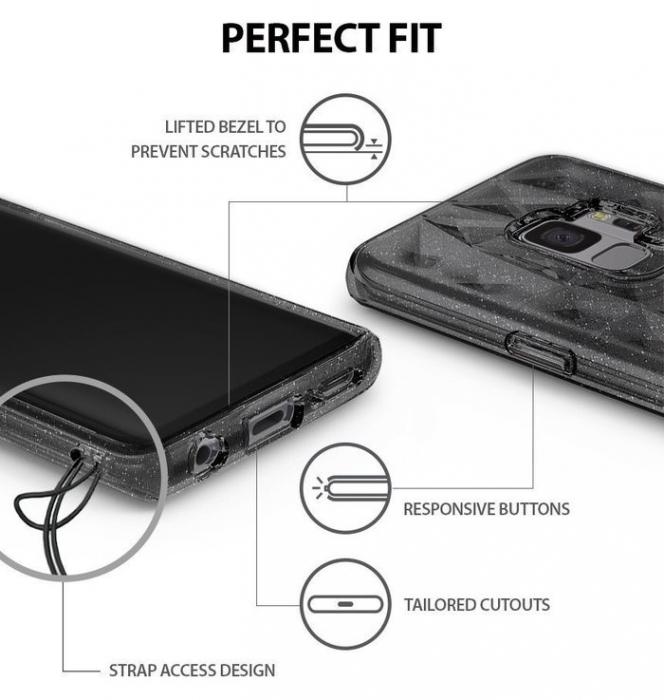 Husa Ringke Air Prism Grey Glitter pentru Samsung Galaxy S9 4