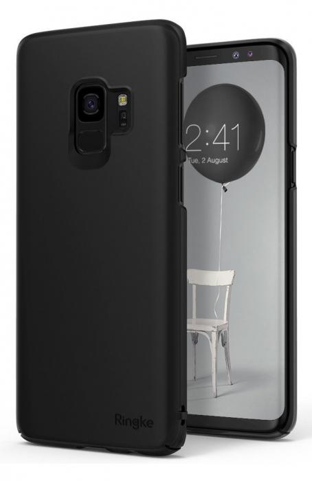Husa Ringke Slim Black pentru Samsung Galaxy S9 0