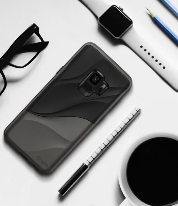 Husa Ringke Wave Black pentru Samsung Galaxy S9 0