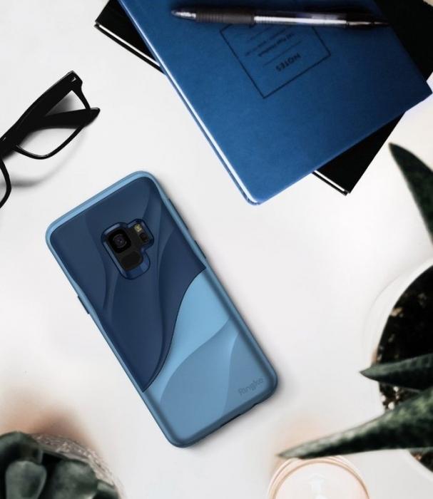 Husa Ringke Wave Blue pentru Samsung Galaxy S9 2