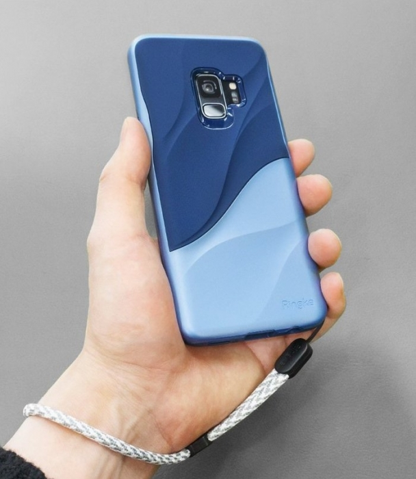 Husa Ringke Wave Blue pentru Samsung Galaxy S9 3