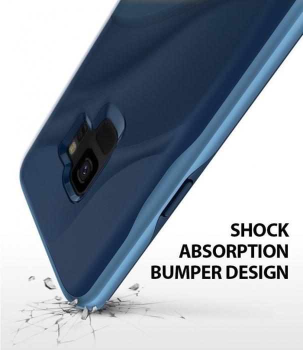 Husa Ringke Wave Blue pentru Samsung Galaxy S9 4