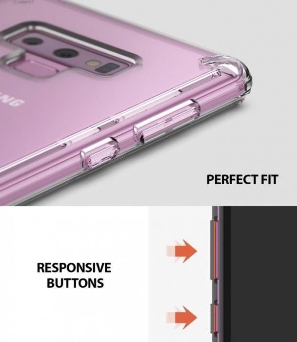 Set Ringke Air husa + portcard + strap transparent pentru Samsung Galaxy Note 9 5