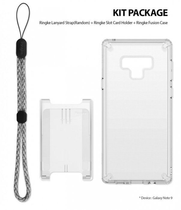 Husa Ringke Fusion Transparent Fumuriu pentru Samsung Galaxy Note 9 8