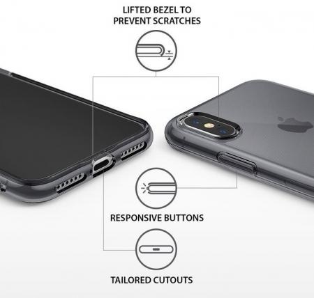Husă Ringke Air Smoke Black pentru iPhone X2