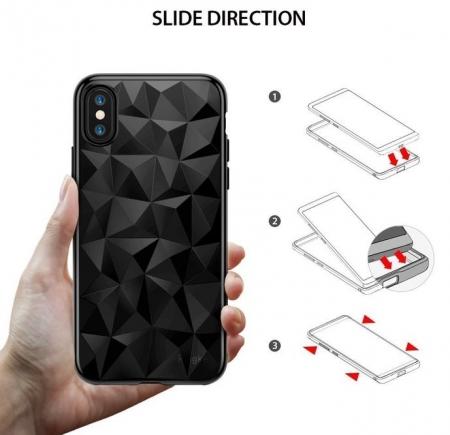 Husă Ringke Prism Ink Black pentru iPhone X8