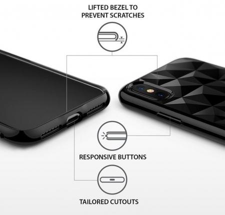 Husă Ringke Prism Ink Black pentru iPhone X7