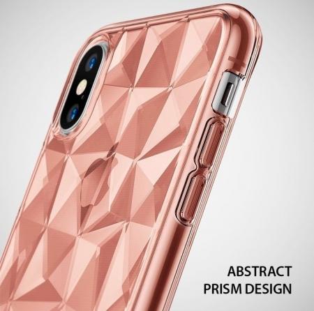 Husă Ringke Prism Rose Gold pentru iPhone X8