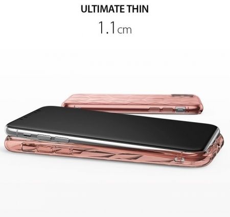 Husă Ringke Prism Rose Gold pentru iPhone X5