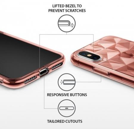 Husă Ringke Prism Rose Gold pentru iPhone X3