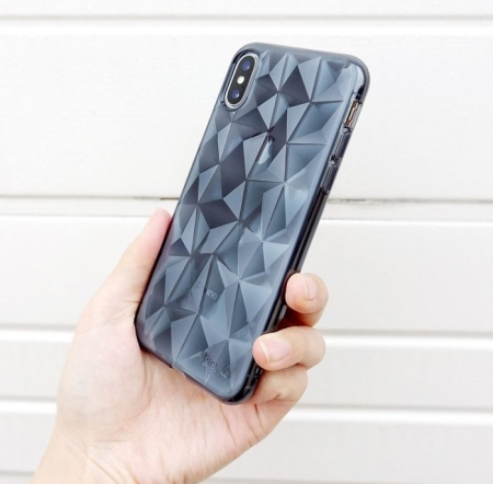 Husă Ringke Prism Smoke Black pentru iPhone X0