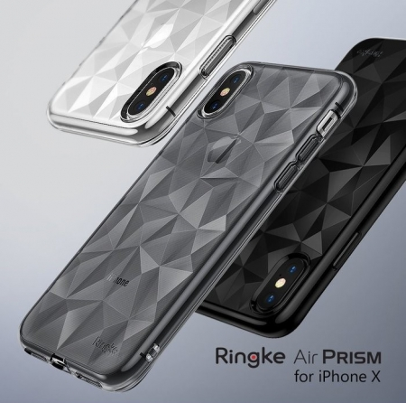 Husă Ringke Prism Smoke Black pentru iPhone X8