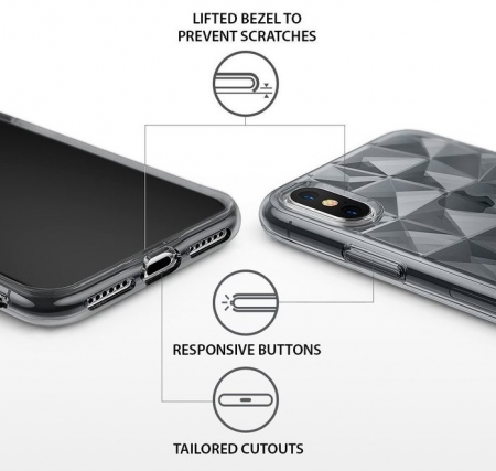 Husă Ringke Prism Smoke Black pentru iPhone X4