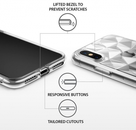 Husă Ringke Prism Clear pentru iPhone X5