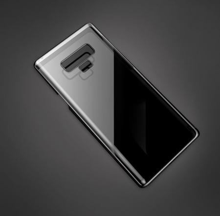 Husa Benks Electroplated transparent negru pentru Samsung Galaxy Note 91