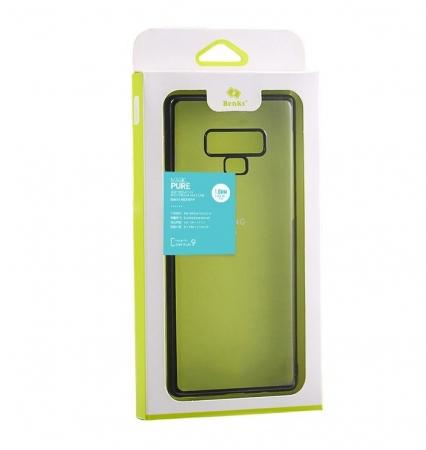 Husa Benks Electroplated transparent negru pentru Samsung Galaxy Note 92