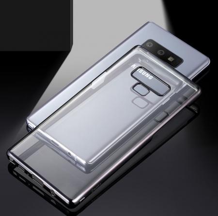 Husa Benks Electroplated transparent negru pentru Samsung Galaxy Note 93