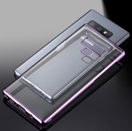 Husa Benks Electroplated transparent violet pentru Samsung Galaxy Note 93