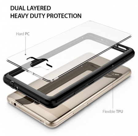 Husa Ringke FUSION Negru-Transparent pentru Huawei Mate 104