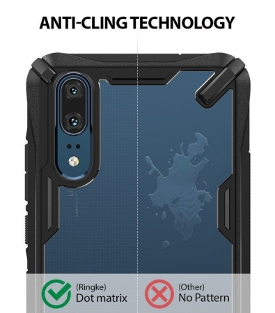 Husa Ringke FUSION X Black pentru Huawei P200