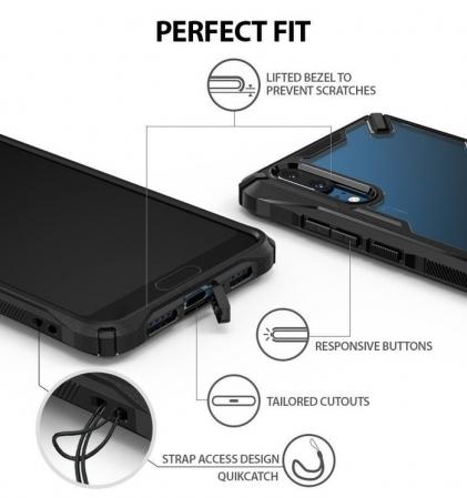 Husa Ringke FUSION X Black pentru Huawei P201