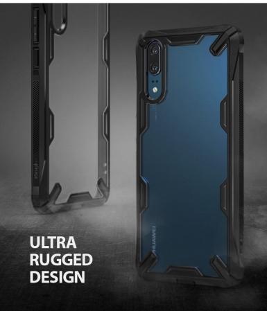 Husa Ringke FUSION X Black pentru Huawei P204